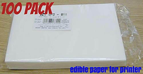 PREMIUM Wafer Paper , edible paper for cakes 8.5 x 11 Inch, 100 Count