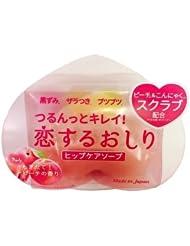 日亚:Pelican臀部去黑色素去角质光滑保湿 心形美臀皂 水蜜桃香 80g 特价545日元,约33元