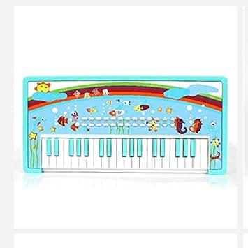 LIPENG-TOY Bebé de Juguete Multifuncional Teclado Niños de 3 a 6 años de Edad Piano de Dibujos Animados Enseñando al bebé (Color : Azul): Amazon.es: Hogar