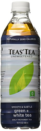 Teas' Tea Unsweetened Green + White, 16.9 Ounce (pack Of 12)
