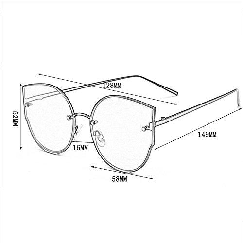 Color Sol de Gafas Mujer F C Gafas Tendencia Sol Gafas de Redonda los Cara de de Hombres Sol Gafas de de de Coreanas 5zZRnxOCwq