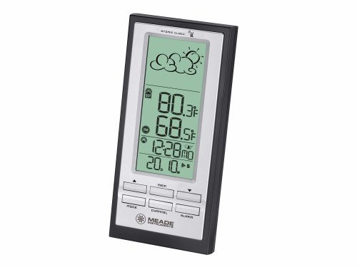 Meade Instruments TE388W Wireless Weather Forecaster with Atomic Clock, ()