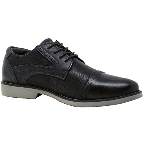 by Toe Dress Leather Oxford swiss alpine Black Genuine Double Diamond Men's Shoes Cap Ctw8q