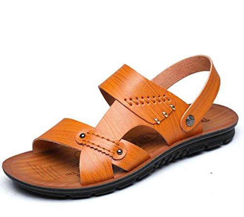 Size Slippers Non Marolaya Slip Summer Large Sandals Yellow Men's x0n0wAYHS
