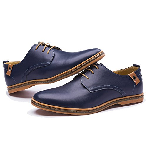 Blivener Mens Dress Shoes Casual Oxford Blue Us 6.5