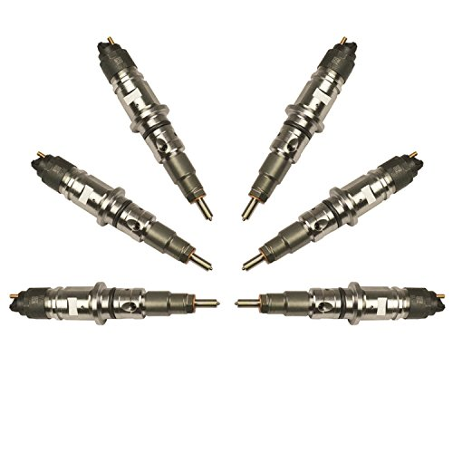 BD Diesel 1074518 Stock Performance Plus Common Rail Injector Set 10-15 hp Increase Exchange Incl. Injectors/Tip Washers Stock Performance Plus Common Rail Injector Set