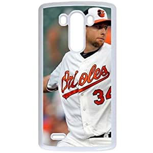 MLB&LG G3 White Baltimore Orioles Gift Holiday Christmas Gifts cell phone cases clear phone cases protectivefashion cell phone cases HMFN635584989