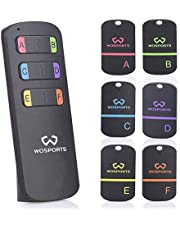 Key Finder,WOSPORTS Item Tracker Wireless RF Item Locator with Loud Beeping Sound,100ft Support Remote Control,Upgrade Long Lasting Batteries, Mini Key Tracker with Anti-Lost Tag and Keychain
