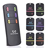 Key Finder,WOSPORTS Item Tracker Wireless RF Item Locator with Loud Beeping Sound,100ft Support Remote Control(Upgrade Long Lasting Batteries) Mini Key Tracker with Anti-Lost Tag and Keychain