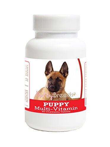 Healthy Breeds Puppy Dietary Supplement for Belgian Malinois - Over 100 Breeds - Veterinarian Formulated Daily Dietary Supplement - Liver Flavored Treats - 60 Chews