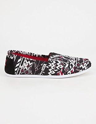 TOMS x Prabal Gurung Fair Isle Classic Womens Shoes, Black/Red, 9