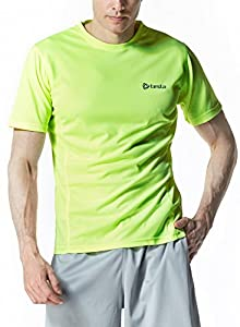 CLSL TM-MTS05-LY_Large Tesla Men's Upgraded HyperDri 2.0 Short Sleeved Athletic Fit T-Shirt MTS05