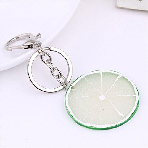 MOONER Apple/Watermelon/Lemon/Pitaya/Kiwifruit Keyrings Key Holder Fresh Fruit Keychain 05
