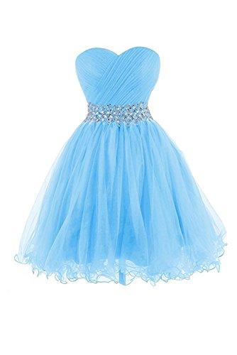 Abendkleider Chiffon Lang Promkleid Herz Festkleid Damen 32 Blau Ausschnitt Schlitz Ivydressing qwaAO1x