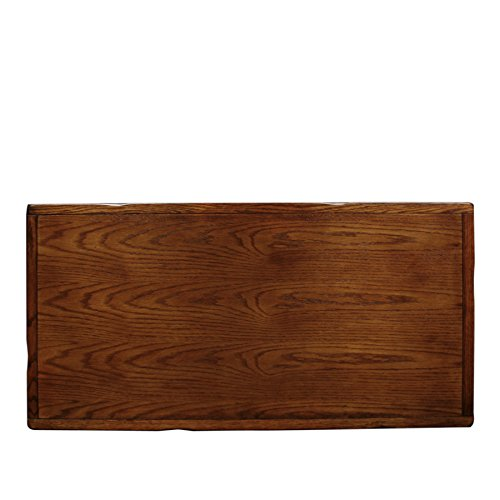 Rustic Slate Rectangular Coffee Table Rustic Oak Finish