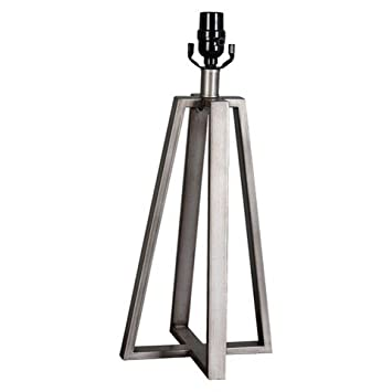 Thresholdâu201e¢ Linear Brushed Silver Lamp Base Large (Includes CFL Bulb)