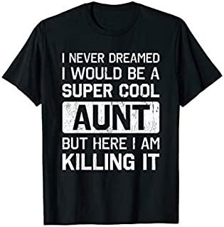 Cool gift Super Cool Aunt Killing It  Funny Aunt  Women Long Sleeve Funny Shirt / Navy / S - 5XL