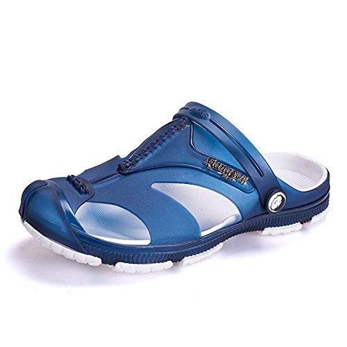 Xing Lin Sandalias De Hombre Primavera De Los Hombres Sandalias De Plástico Nueva Jelly Shoes Calzado De Playa Juventud Baotou Zapatillas Suaves Zapatos De Jardín blue