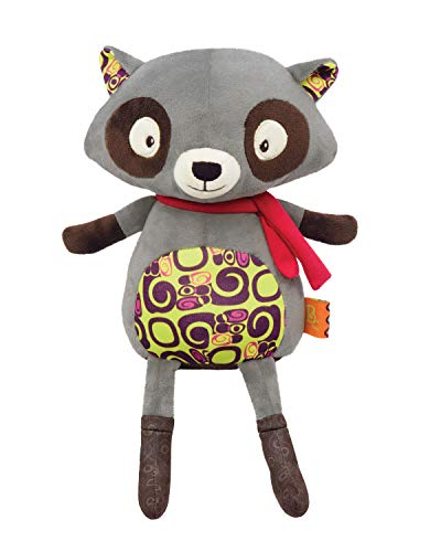 (B. Toys - Happy Yappies - Rascal The Raccoon  - Talking Teddy Toy Repeats What You Say - Stuffed Raccoon Plush Toy - Sensory Toys for Babies 10 Months +)
