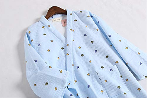 L Donne Tenere Giapponese Donne Accappatoi Cotone Accappatoi Fresco Caldi Tessuto Kimono Pigiama Invernale Scuba JYHTG Pigiama Per Addensare 100 Trapuntato Le qwRH16