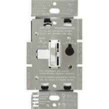 Lutron TGCL-153PH-WH Toggler CFL/LED Single-Pole/3-Way Toggle Dimmer, White