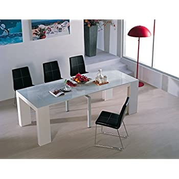 VIVA HOME H-1003WG Audrey Dining Table, White Gloss