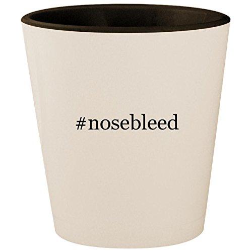 #nosebleed - Hashtag White Outer & Black Inner Ceramic 1.5oz Shot Glass