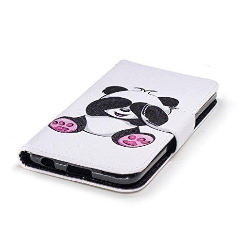 en en magnétique conception pour peint cuir LG d'impression portefeuille fermeture K11 PU panda Hozor 2018 fente carte de Shy avec Flip aérosol étui K10 protection cas avec support qwx07xXT
