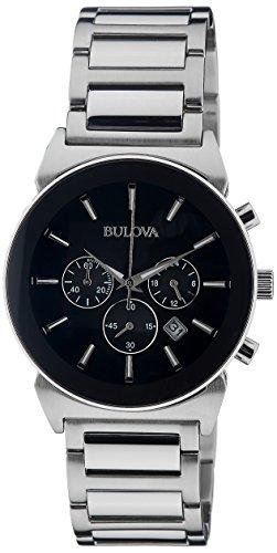 Bulova Men's 96B203 Analog Display Japanese Quartz Silver Watch
