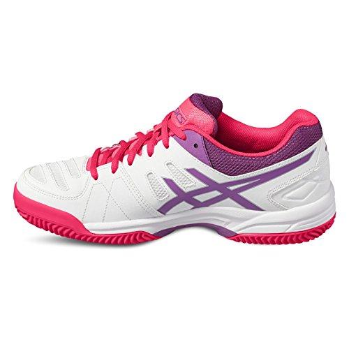 Asics E561y 0136, Zapatillas de Deporte Unisex Adulto Varios colores (White /         Orchid /         Diva Pink)