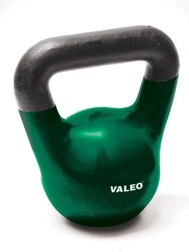 Valeo 20-Pound Kettle Bell Weight With Cast Iron Handle For Squats, Pulls and Overhead Throws To Build Strength And Endurance