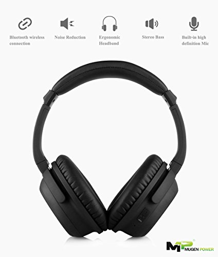 cheap mugen power wireless wired bluetooth headphones with active noise cancelling enhanced. Black Bedroom Furniture Sets. Home Design Ideas