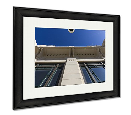 Ashley Framed Prints Bass Performance Hall Fort Worth Tx, Office/Home/Kitchen Decor, Color, 30x35 (frame size), Black Frame, - Sundance Tx Square