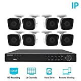 LaView 1080P HD IP 8 Camera Security System 16 Channel PoE 1080P NVR with a 6TB HDD Indoor/Outdoor Cameras Day/Night Surveillance System with Remote Viewing