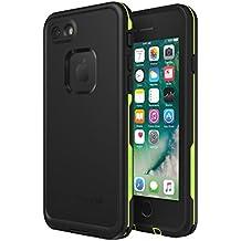 Lifeproof FRĒ Series Waterproof Case for iPhone 8 & 7 (ONLY) - Retail Packaging - Night LITE (Black/Lime)