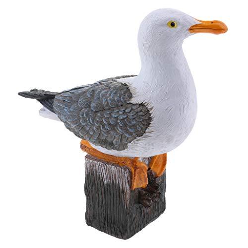 Animals Gulls (MagiDeal Creative Resin Craft Landscape Decor Seagull Statue Garden Lawn Ornament Animal Sculpture)