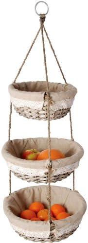 Korb Etagere Hängekorb Weide Obst Schale Küche Bad Deko Amazon De Küche Haushalt