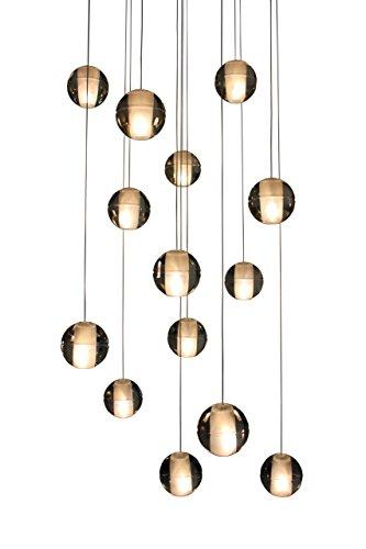 14-light Suspended Glass Globe LED Pendant Chandelier Lighting Light