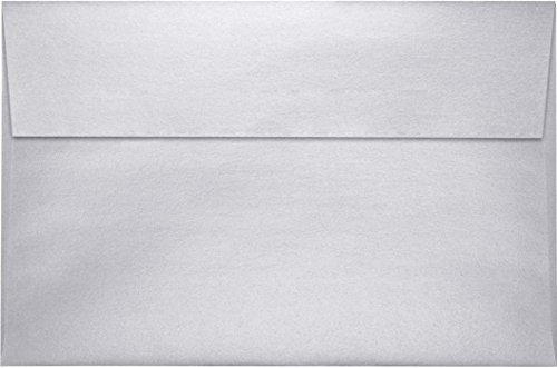 A9 Invitation Envelopes w/Peel & Press (5 3/4 x 8 3/4) - Silver Metallic (50 Qty) | Perfect for Invitations, Greeting Cards, Thank You Cards, Announcements and so much more! | (Columbian Greeting Card Envelope)