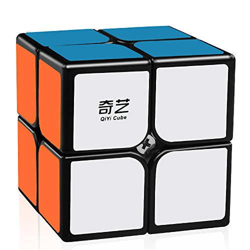 D-FantiX Qiyi Qidi 2x2 Speed Cube, Magic Cube 2x2x2 Puzzle Toys for Kids (Black)