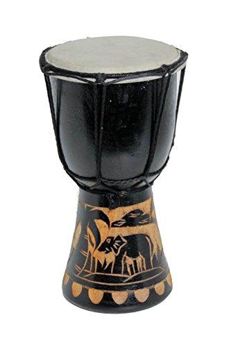 20cm Djembe Trommel Bongo für Kinder Elefant Schwarz A1