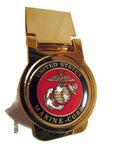 USMC US MARINE CORPS GOLD PLATED MONEY CLIP