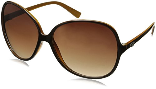 CG Eyewear Designer Vintage Oversized Women's Sunglasses (Brown Oversized)