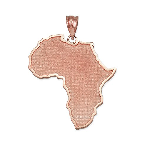 14K Rose Gold Africa Map Pendant by Travel & Destinations Jewelry