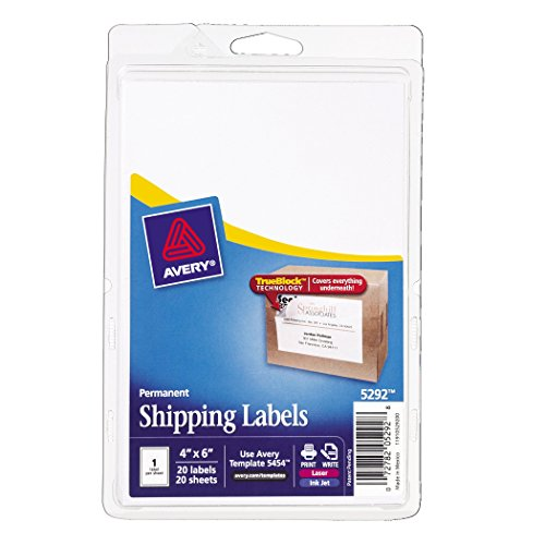 Avery Shipping Labels with TrueBlock Technology, 4