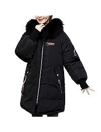 New Women's Thicken Warm Winter Coat, Casual Faux Fur Hooded Thick Warm Slim Long Overcoat Coats Jacket by JMETRIE