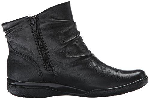 Clarks Kvinna Kearns Trädgård Boot Svart Läder
