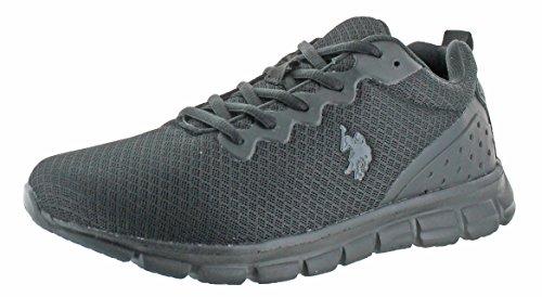 Us Polo Assn Gebruik Heren Jogger Sneakers Schoenen Zwart