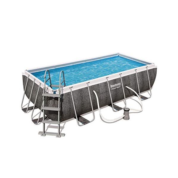 Bestway Power Steel Rectangular Pool Set 404 x 201 x 100 cm Piscina, marrón