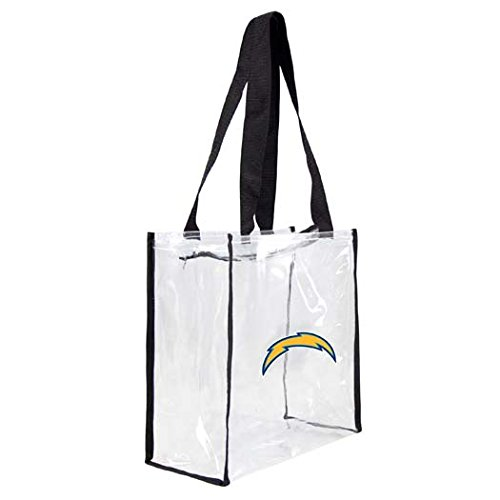 お気に入りの NFL Clear Los Square Angeles Chargers NFL Clear Square Zipトートバッグ B00GJNHVLS, フォーチュンプラザ:b197e013 --- vanhavertotgracht.nl